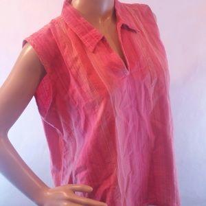 Woolrich pink flattering cotton flattering tank xl